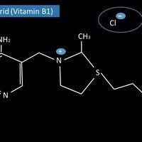 Strukturformel von Vitamin B1 (Thiaminchlorid)